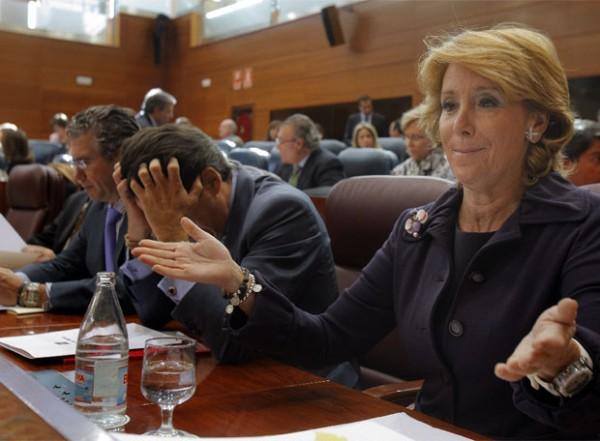 El desfase de Esperanza Aguirre no es culpa de la herencia