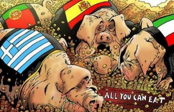 La Unión Europea Asolada o las Tierras Bajas de los PIGS