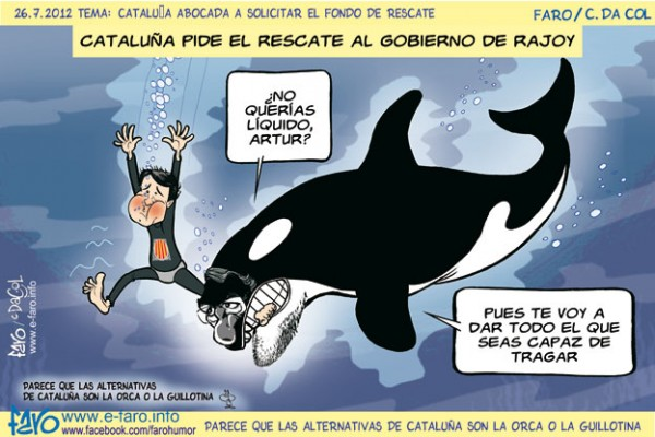 Artur Mas no aceptará condiciones de Rajoy para el rescate de Cataluña