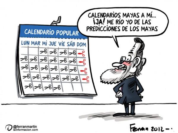 El año en que la maldición maya nos dejó a Rajoy