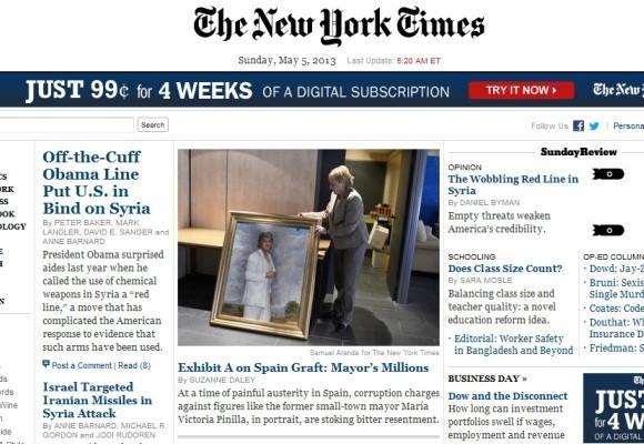 Sanidad: Objetivo Corrupción, según el New York Times