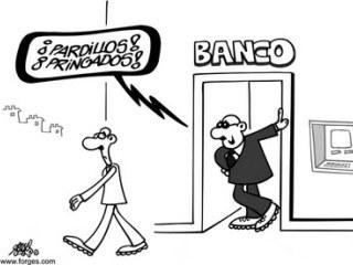 Las nóminas de los banqueros no entienden de crisis