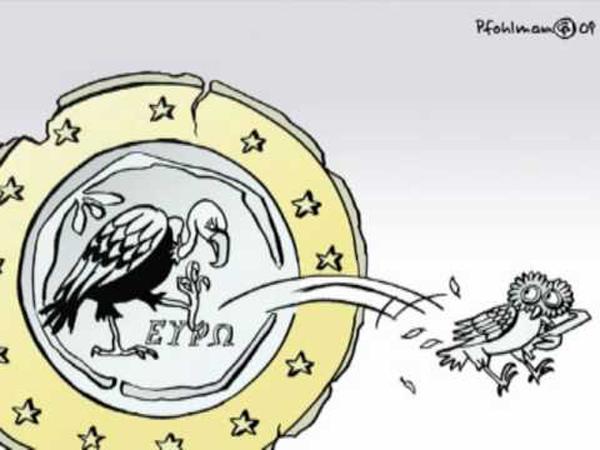 Merkel a favor de dar la 'puntilla' a Grecia
