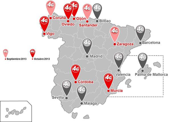 Vodafone lanzará 4G en 8 nuevas ciudades I