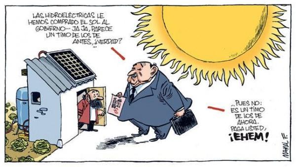 Continúa el conflicto con los usuarios de energía solar